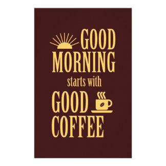Flyer Comienzo de la buena mañana con buen café