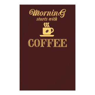 Flyer Comienzo de la mañana con café