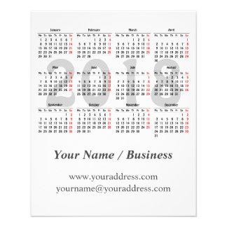 Flyer Cree su propio calendario 2018