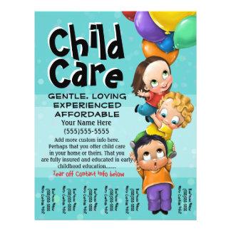 Flyer Cuidado de niños. El cuid losar nin¢os. Cuidado
