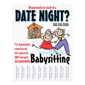 Flyer Cuidado de niños que cuid losa nin¢os de la noche