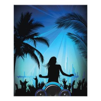 Flyer danza c de la música de la playa del fiesta de la
