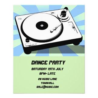 Flyer Disco del club nocturno del baile de DJ