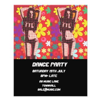 Flyer Disco del club nocturno del baile de DJ retro