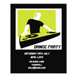 Flyer Disco retro del club nocturno del baile de DJ