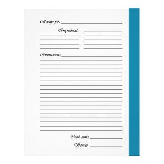Flyer El azul 2 echó a un lado las páginas de la receta