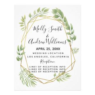 Flyer el boda cristalino del verdor del boda del país