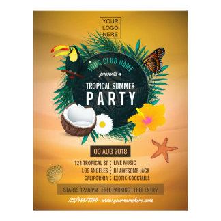 Flyer El club/el verano tropical corporativo añade la