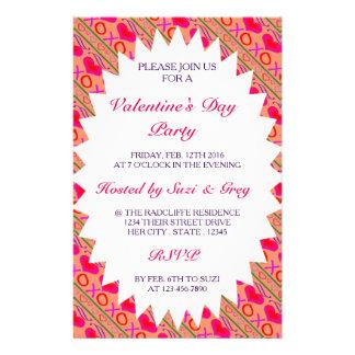 Flyer El el día de San Valentín del color de la