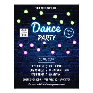 Flyer El fiesta de la música de danza de DJ del club