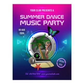 Flyer El fiesta de la música de danza del verano del