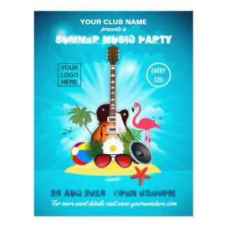 Flyer El fiesta de la música del verano del club añade