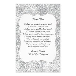 Flyer El poema de plata del boda del purpurina le