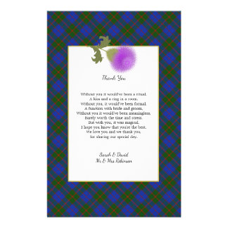 Flyer El poema escocés del boda del tartán del clan le