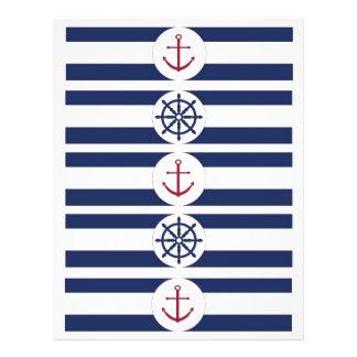 Flyer Etiquetas náuticas de la botella de agua de la fie
