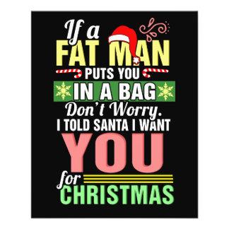 Flyer Felices Navidad y Papá Noel