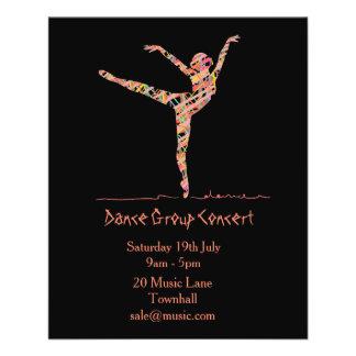 Flyer funcionamiento del ballet o de la danza moderna