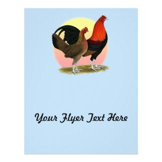 Flyer Gallo de juego inglés viejo:  Rojo del BB