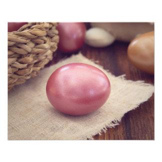 Flyer Huevos de Pascua pintados pastel
