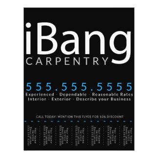 Flyer iBang. Anuncio de Tearsheet de la renovación del