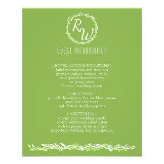 Flyer Información rústica de la huésped de la vid del