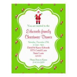 Flyer Invitación de la cena de navidad