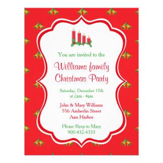 Flyer Invitación de la fiesta de Navidad
