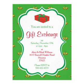 Flyer Invitación del intercambio del regalo del navidad