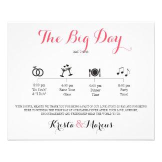 Flyer Itinerario del boda del icono - boda del destino
