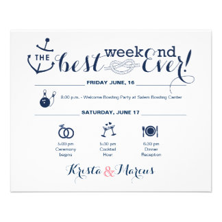 Flyer Itinerario náutico 2 del fin de semana del boda