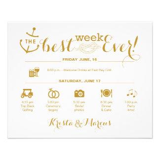 Flyer Itinerario náutico de la semana del boda