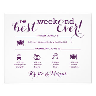 Flyer Itinerario náutico del fin de semana del boda