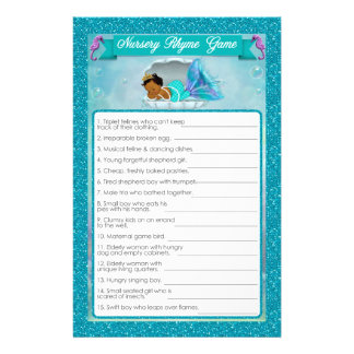 Flyer Juego #135 de la poesía infantil de la fiesta de