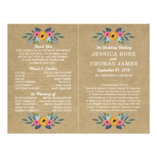 Flyer La colección floral rústica del boda de la