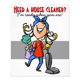 Flyer Limpieza de la casa, negocio de encargo