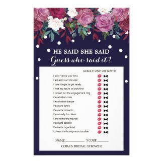 Flyer Marsala floral y marina de guerra que él dijo que