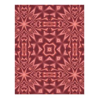 Flyer Modelo abstracto rojo