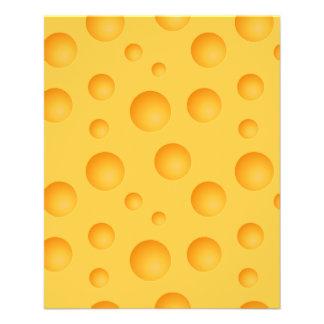 Flyer Modelo amarillo del queso