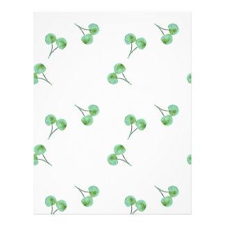 Flyer Modelo verde de la cereza