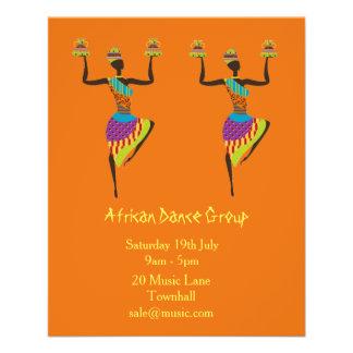 Flyer Música del grupo y funcionamiento africanos de la
