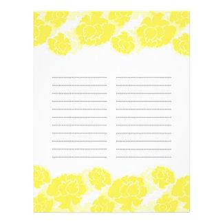 Flyer Páginas alineadas decadencia floral