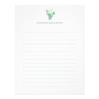 Flyer Páginas blancas del planeamiento del boda de la