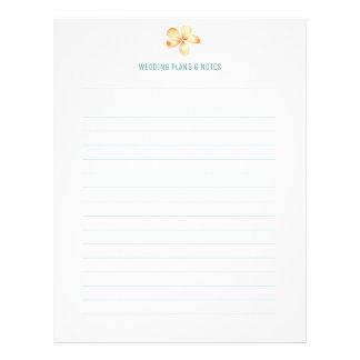 Flyer Páginas del planeamiento del boda del Plumeria de
