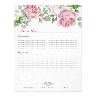 Flyer Partes movibles florales color de rosa rosados de