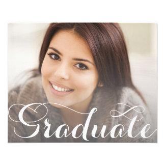 Flyer Plantilla de la postal de la graduación