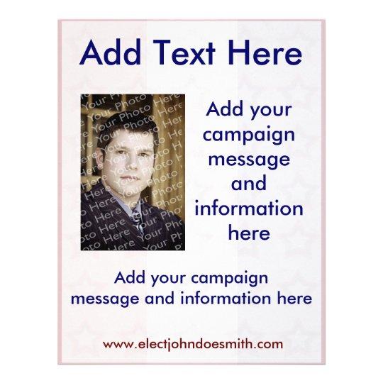 Flyer Plantilla del aviador de la campaña electoral de