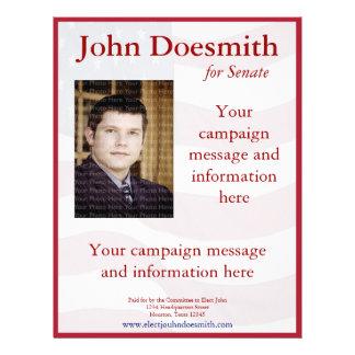 Flyer Plantilla del aviador de la campaña política