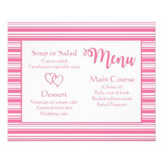 Flyer Rayas rosadas y blancas que casan el fiesta del