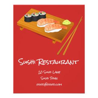 Flyer Restaurante japonés de la comida del sushi