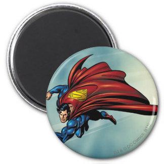 Flys del superhombre con el cabo imanes para frigoríficos